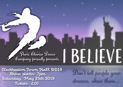 'I Believe' poster for dance event