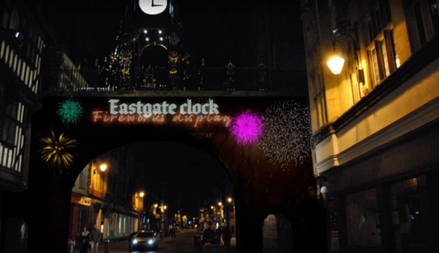 Location Projection Eastgate Clock