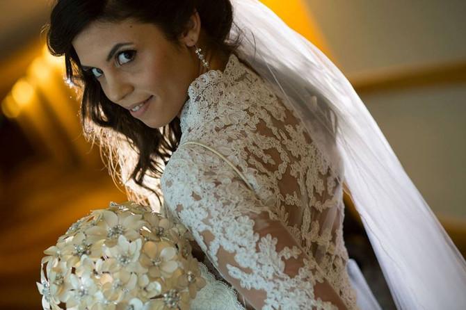 Sharon Levy en su boda, Body bordado a m