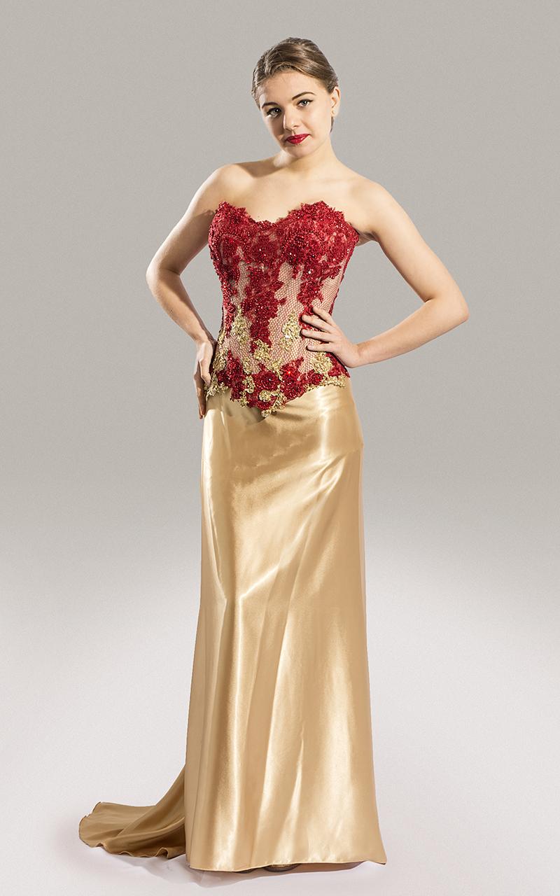 ecd8f269e Vestido de Fiesta - Diseño Red and Oro