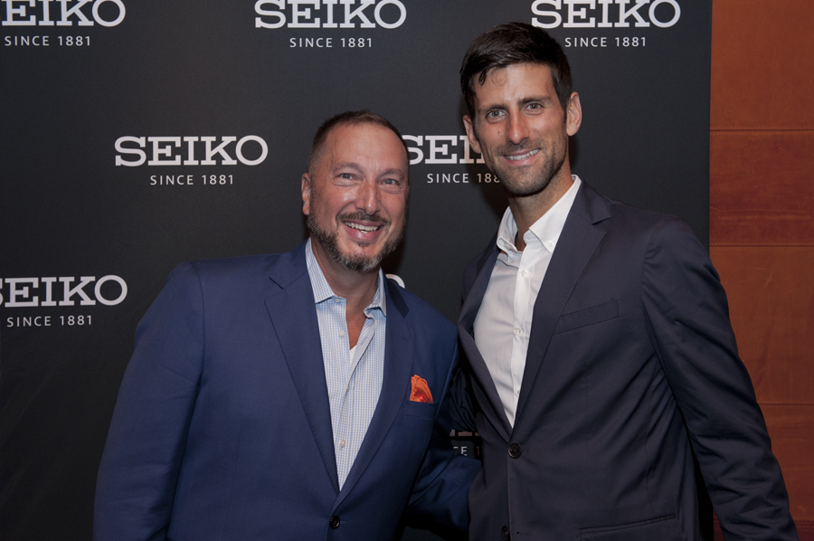 seiko event david landgraf Novak Djokovi