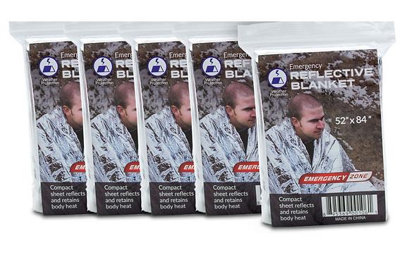 Emergency Blanket - 5 pack