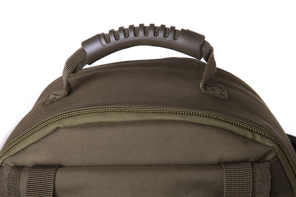 Grab handle on tactical backpack