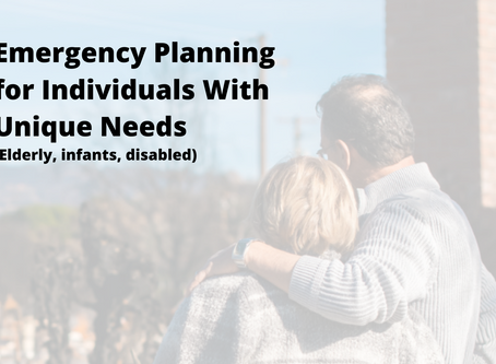 Emergency Prep for Families with Special Needs