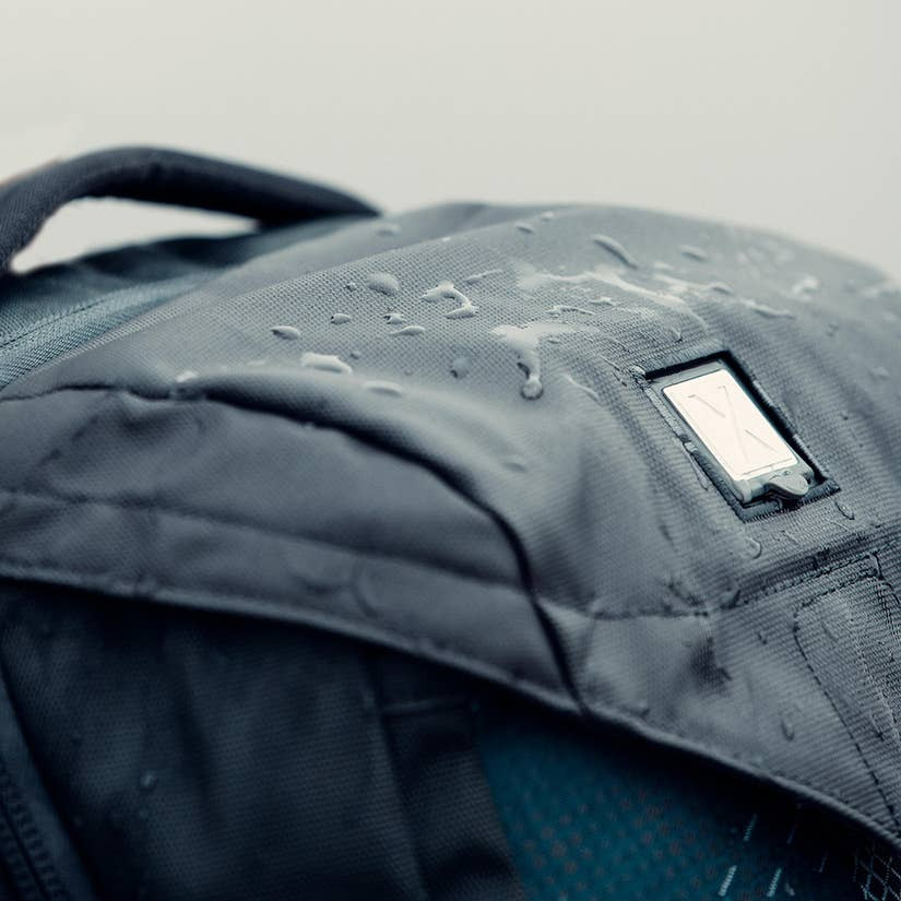 water resistant Oxygen 35 backpack.