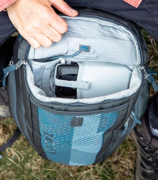 A look inside the Xactly Oxygen 30 Liter backpack.