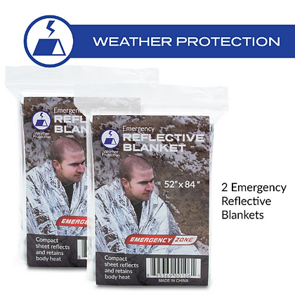 Emergency Blanket - 2 Pack