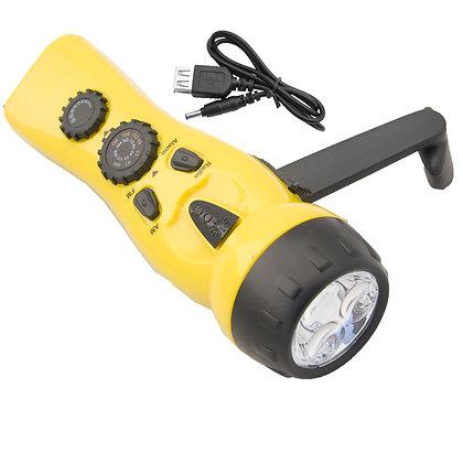 Yellow Dynamo Emergency Flashlight