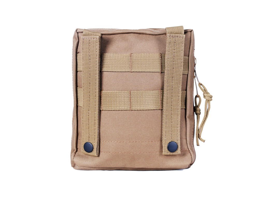 Tactical pouch with MOLLE straps & web