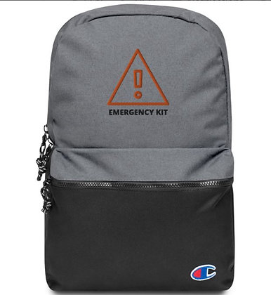 Embroidered Emergency Backpack