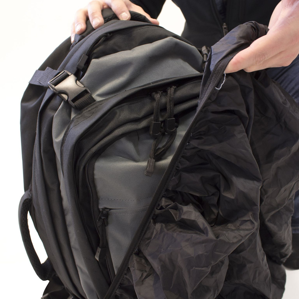 Tactical backpack rain cover option