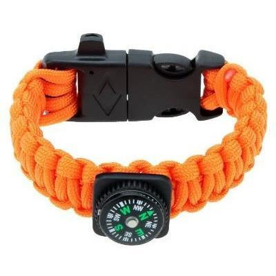 Survival Paracord Compass Edition - Orange 4-In-1