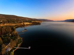 Aerial view of the Okanagan Lake