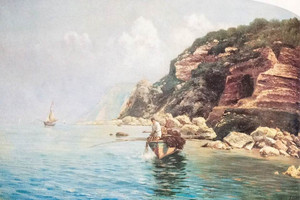 """Capri resti della Villa di Tiberio ora """"Bagni di Tiberio"""""""