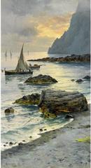 Michele Federico - Fishing Boats off the Coast of Capri