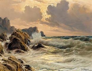 Michele Federico A rough sea off the coast of Capri