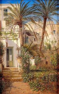 Karl von Kratzer Pagano Garten in Capri, 1883.