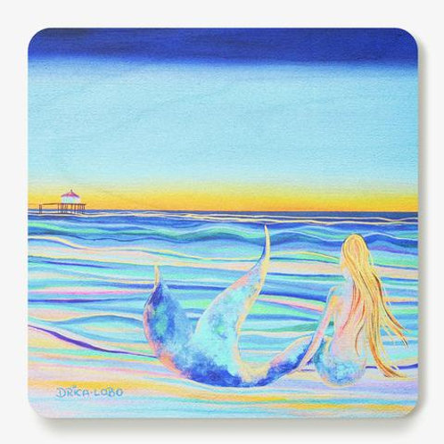Mermaid Wooden Coaster