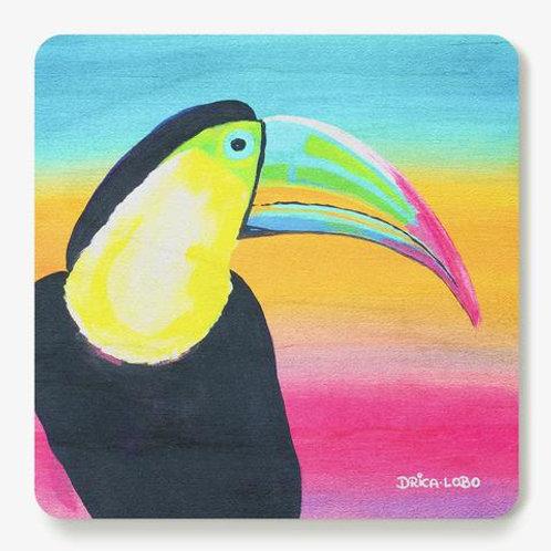 Toucan Wooden Coaster