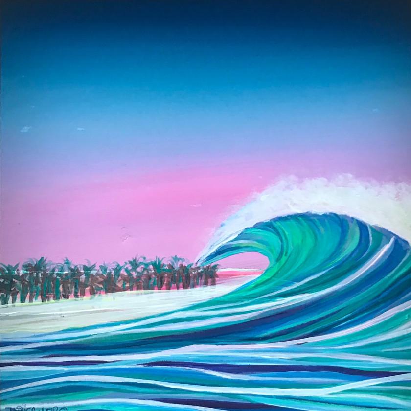 "'Pacific Flow', 6""x6"""