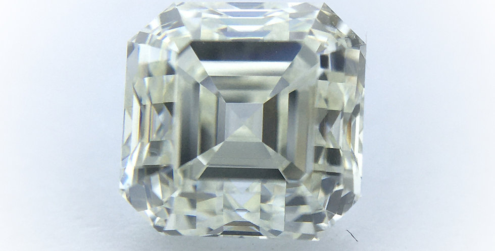 Square Emerald / Asscher 1.04ct J IF certified by HRD