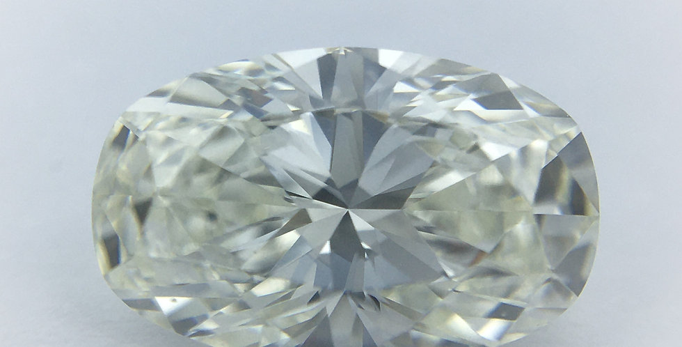 Oval 1.04ct J VVS1 certified by HRD