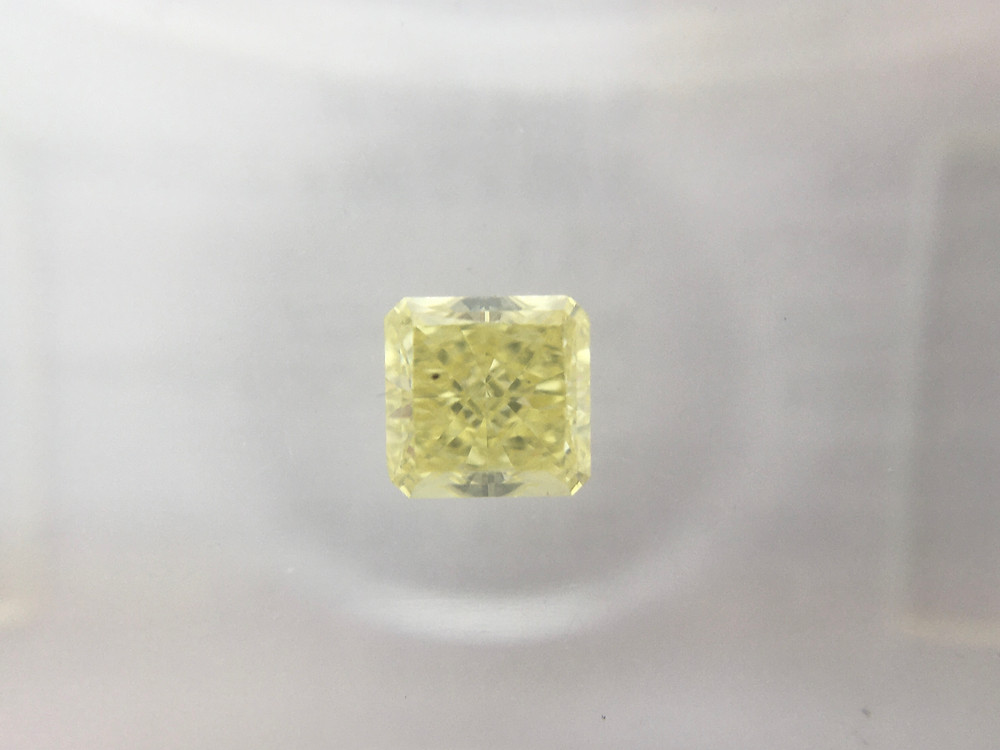 Princess 0.35ct Fancy Vivid Yellow certified by IGI