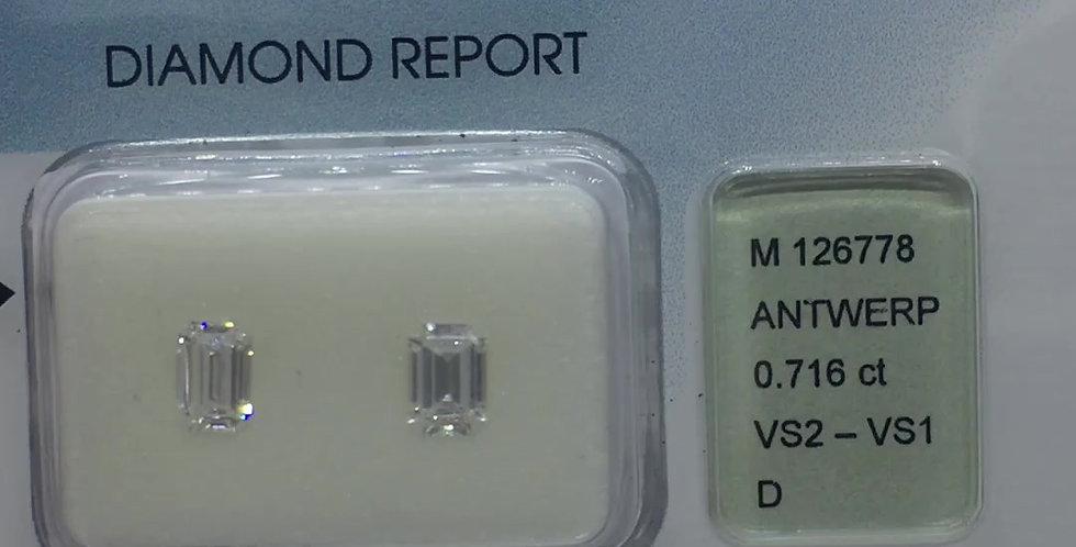Emerald 0.34ct D VS1 certified by IGI