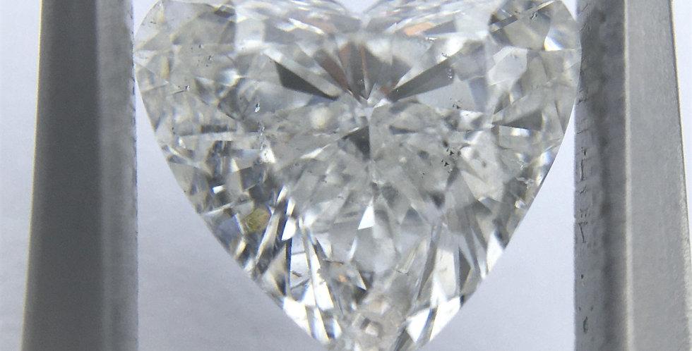 Heart Shape 1.04ct F SI2 certified by HRD