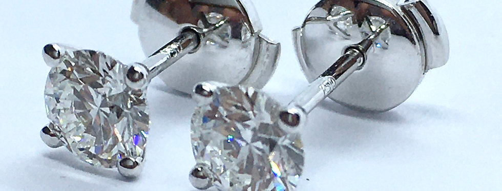 Round Brilliant Couple 1.06ct total weight D VS1 certified by IGI