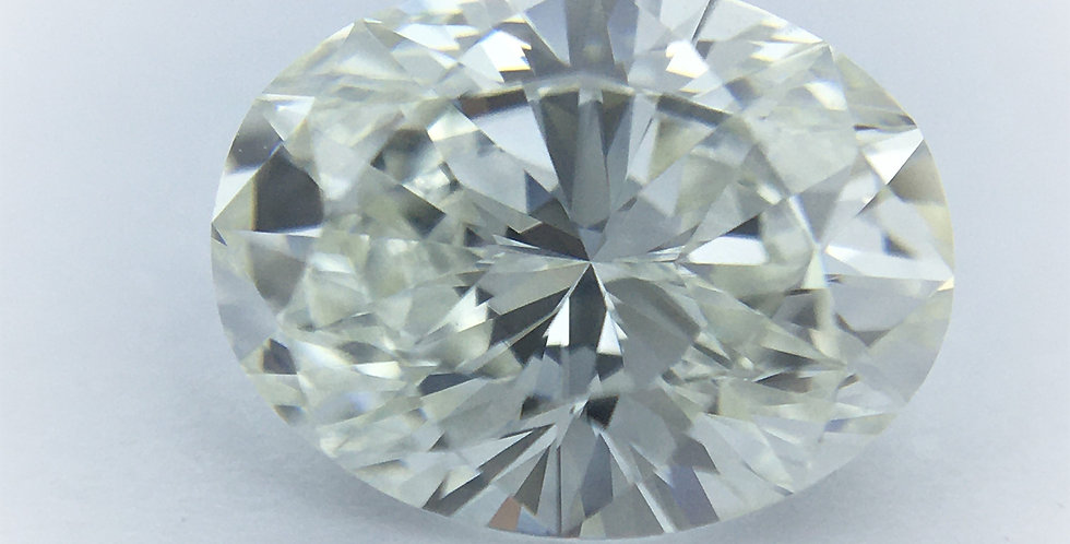 Oval 1.03ct H VVS1 certified by HRD