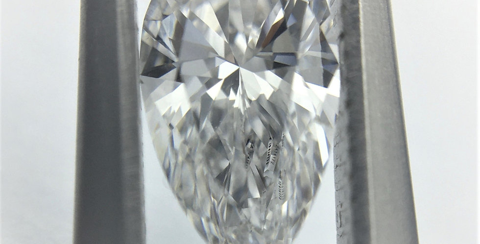 Pear Shape 0.5ct E IF certified by GIA