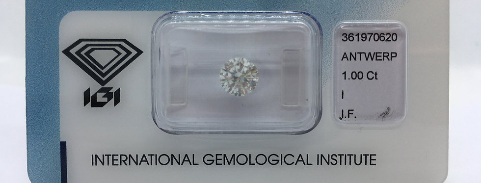 Round Brilliant 1ct I IF certified by IGI