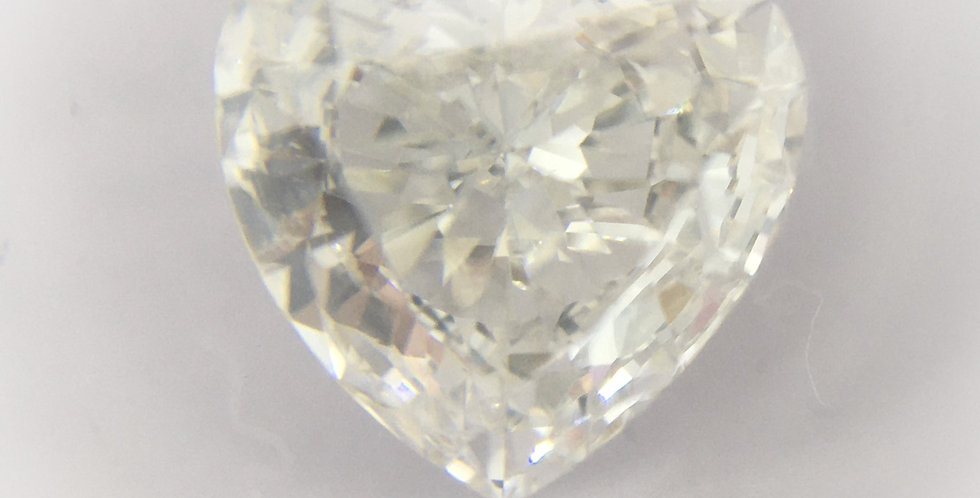 Heart Shape 1.03ct F VS2 certified by IGI