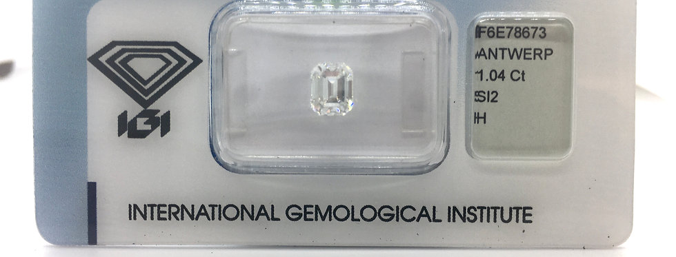 Emerald 1.04ct H SI2 certified by IGI
