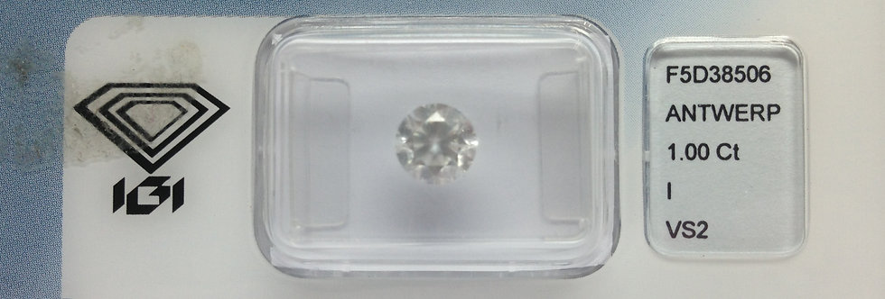 Round Brilliant 1ct I VS2 certified by IGI