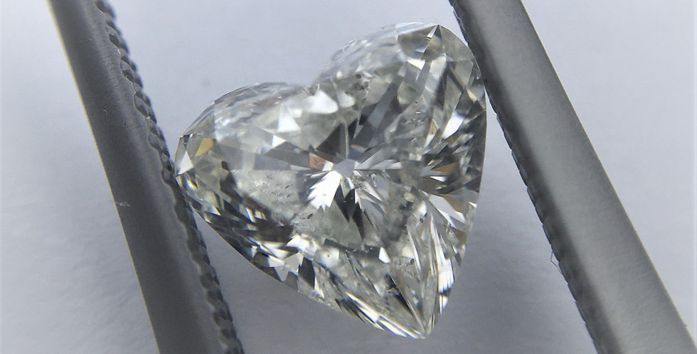 Heart Shape 1.01ct H SI2 certified by HRD
