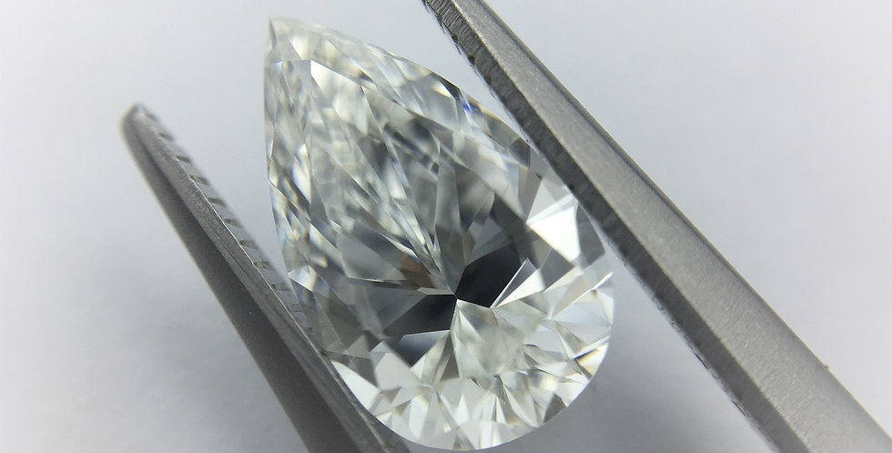 Pear Shape 1ct F VVS1 certified by HRD