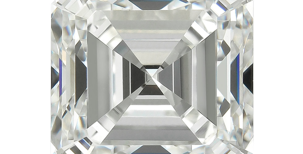 Square Emerald / Asscher 2.12ct G IF certified by HRD