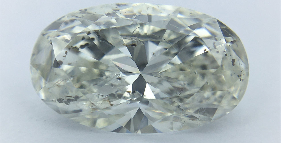 Oval 1.52ct I SI2 certified by HRD