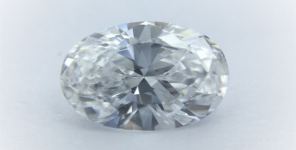 Oval 0.4ct D VVS2 certified by IGI