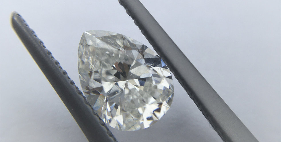 Pear Shape 1.02ct F SI2 certified by HRD