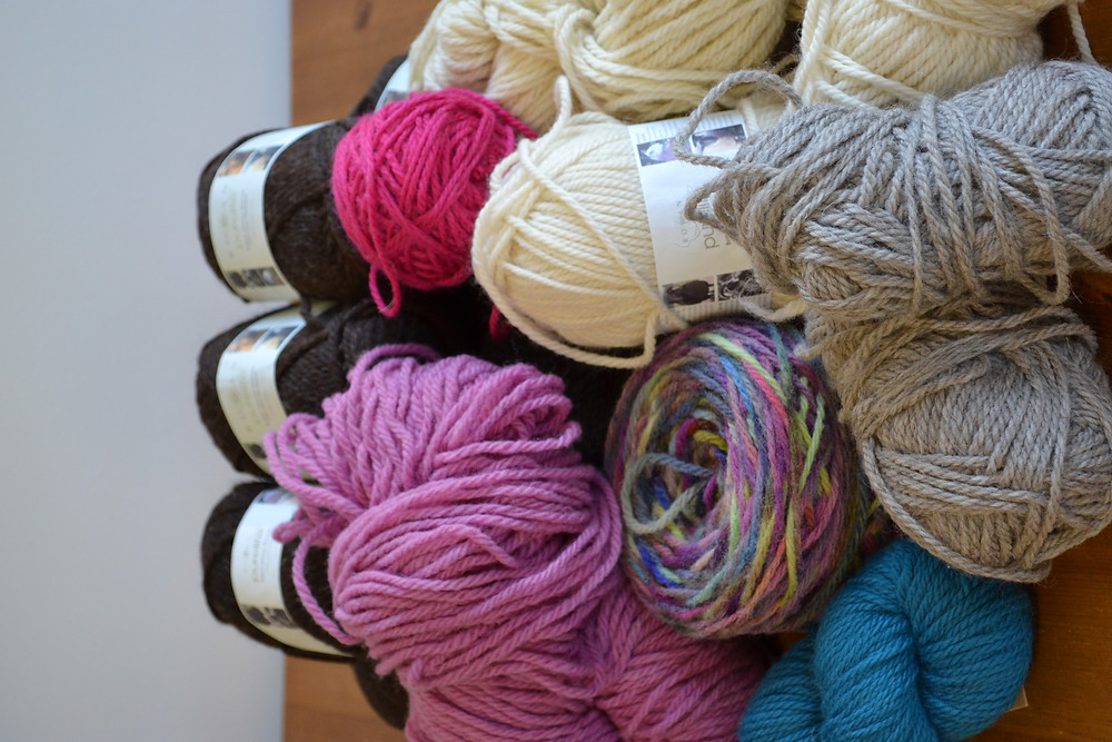 My chunky stash yarns