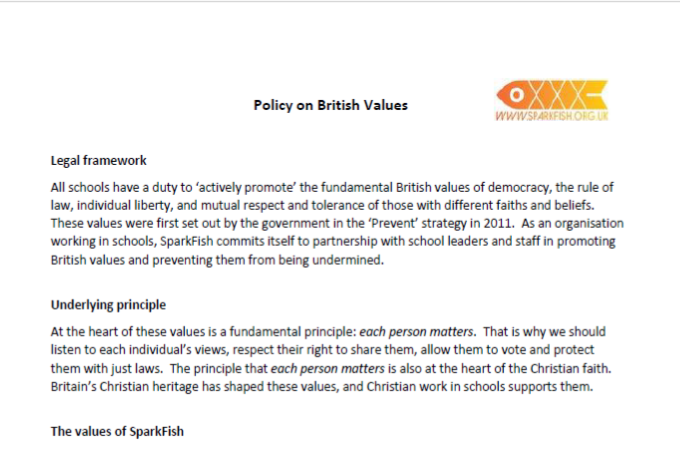 Policy on British Values