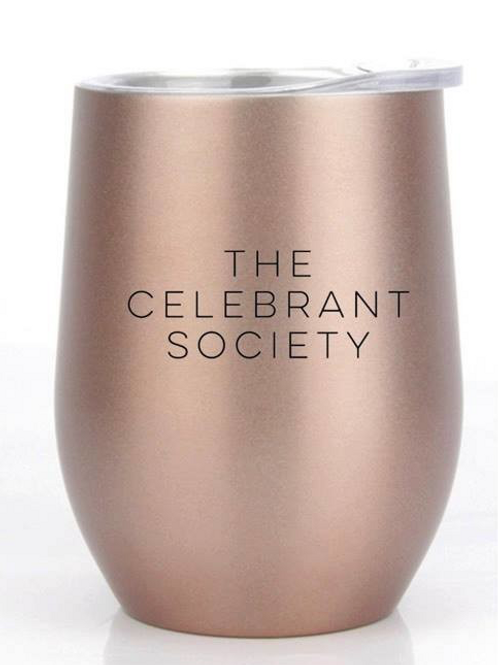 Rose Gold Insulated Wine Tumbler