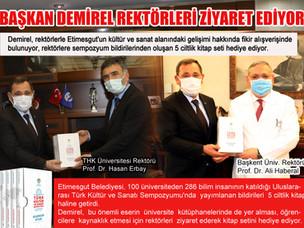 Etimesgut Belediye Başkanı Demirel'den Ankara'daki Rektörlere Ziyaret