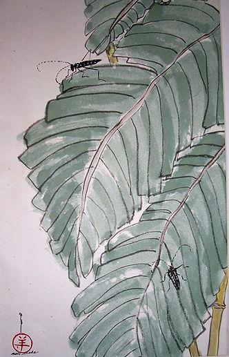 Banana leaf has company.jpg