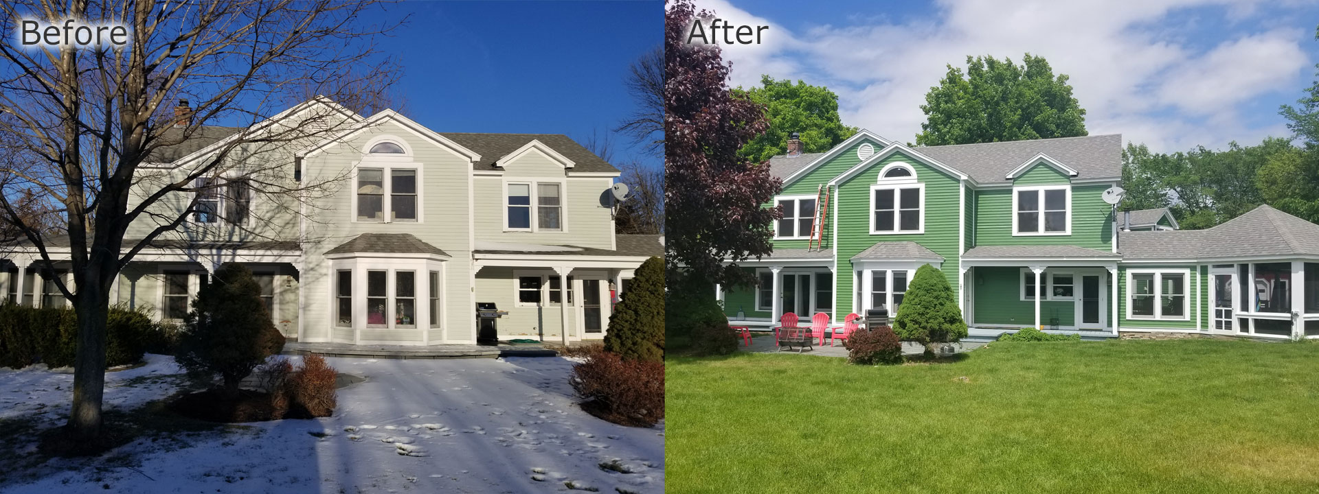 Before & after Always Quality Paint