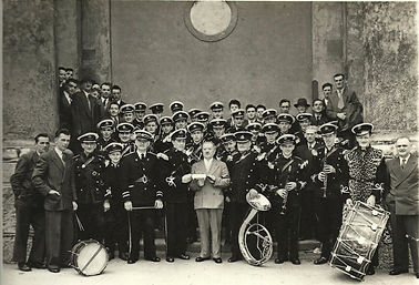 Presentation made to William McCarthy (Da Billy) on his retirement from the band in 1955.