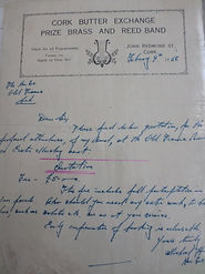 Quotation for the band to play at the Old Fianna Éireann March on Easter Monday 1956